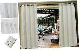Dream Art Outdoor Waterproof Patio Curtains Drapes Canopy Ga