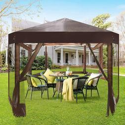 Koreyosh Folding Hexagon Patio Outdoor Party Tent Backyard G