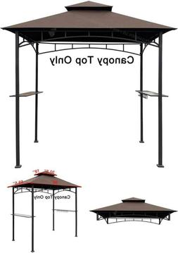 GARDEN  Canopy Top CAN 8' X 5' Brown Double Tiered Grill BBQ