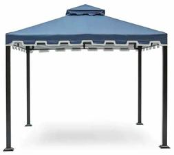 Garden Gazebo Navy Blue 10 x 10 ft Metal Patio Sun Shade Can