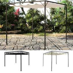 """vidaXL Garden Gazebo with Retractable Canopy 118.1"""" Sunshade"""