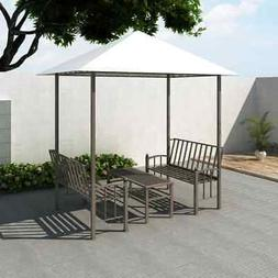 garden pavilion with table and benches outdoor