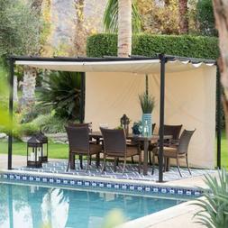 Garden Pergola Gazebo Trellis Patio Sun Shade Retractable Be