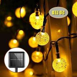 Upoom Garden Solar Lights, 50 LED Outdoor String Lights Gard