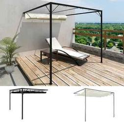 """vidaXL Garden Wall Gazebo Retractable Canopy 118.1"""" Sunshade"""