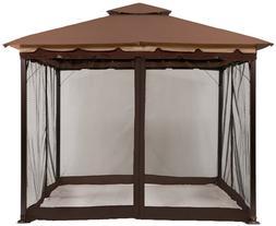 gazebo mosquito netting screen walls for 10