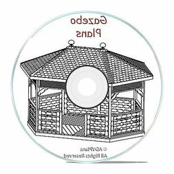 GAZEBO PLANS PACKAGE, 13 DIFFERENT ORIGINAL DESIGNS, STEP BY