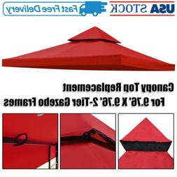 Gazebo Tent Top Replacement for 2 Tier Outdoor Patio Canopy