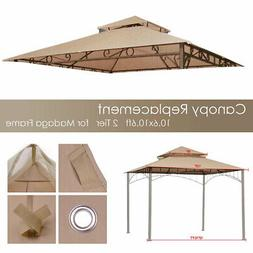 Gazebo Top Cover Outdoor Canopy 10.6x10.6' Replacement For M