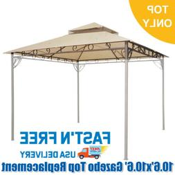 Gazebo Top Replacement Patio Canopy Cover for 10.6' x 10.6'