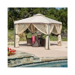 Outdoor Gazebo With Netting Canopy 10x10 Tent Pergola Patio