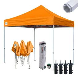 Gold 10x10 Premium Easy Pop Up Canopy Outdoor Sunshade Beach