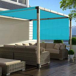 Green 8' 9' Outdoor Pergola Gazebo with Sun Shades, Patio St