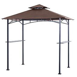 Grill Shelter Replacement Canopy Roof FIT for Gazebo Brown W