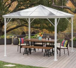 Hardtop Gazebo Aluminum Metal Pergola 10x10 Outdoor Garden C