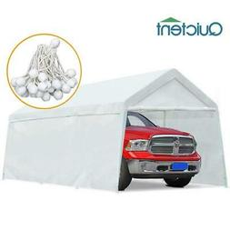 Quictent Heavy Duty Canopy White 10x20 Carport Car Tent Shel
