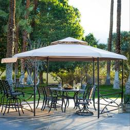 Hexagon Gazebo With Table And Waterproof Canopy Patio Backya