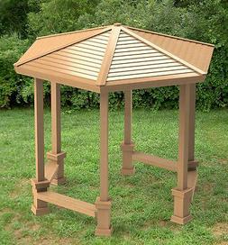 Hexagonal Garden Gazebo with Benches - Building Plans, DIY I