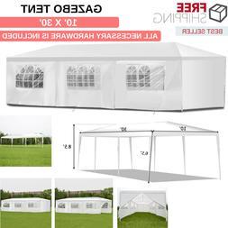 High Quality Gazebo Tent 10' x 30' Waterproof With All Hardw