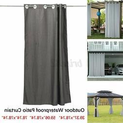 Imitation Linen Outdoor Curtain Waterproof Garden Patio Porc