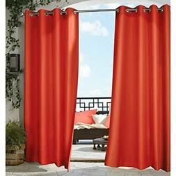 Indoor/Outdoor Decor Gazebo Solid Grommet Top Window Panel,