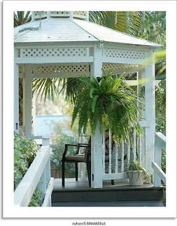 Inviting Gazebo Outside In A Art/Canvas Print. Poster, Wall