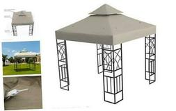 Kenley Gazebo Canopy Replacement Top 10x10 - Double Tier Pat