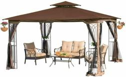 Sunjoy L-GZ798PST-E-A New Regency III Gazebo 10' x 12' with