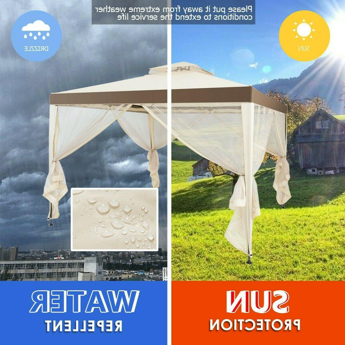 10' Gazebo Steel Gazebo Lawn Tent
