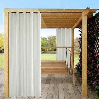 "10x Heat Insulated Grommet Outdoor Curtain Patio Gazebo Pergola 54x96"""