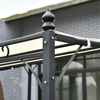 Outsunny 10x10 Backyard Deck Canopy Sun Shade Shelter