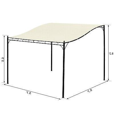 Outsunny 10x10 Deck Garden Pergola Sun Soft