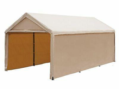 10x20 ft heavy duty beige domain carport