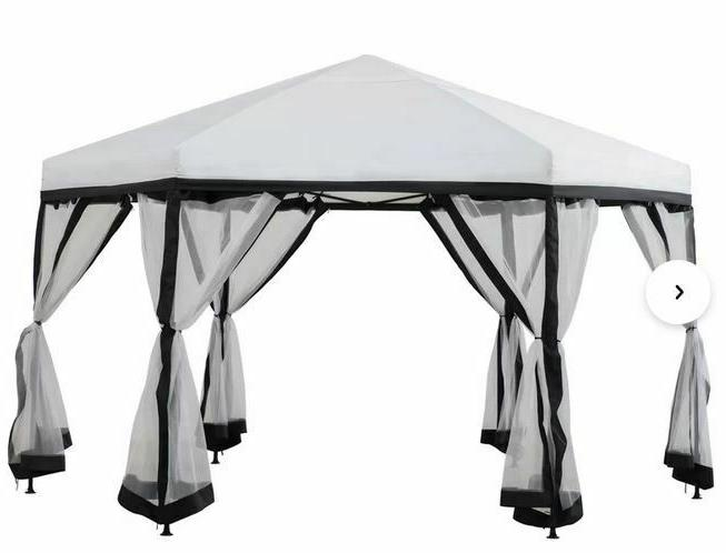 Sunjoy x 11 Ft. D Portable Steel Pop-up Gazebo,with Mesh