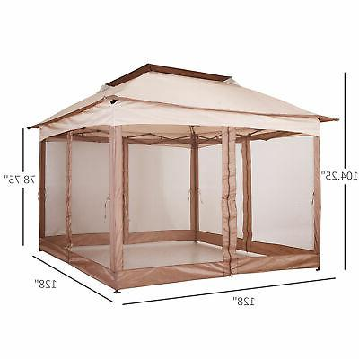 Outsunny Outdoor 2-Tier Portable Up Vented