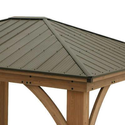 Yardistry 14' Cedar Gazebo with Roof