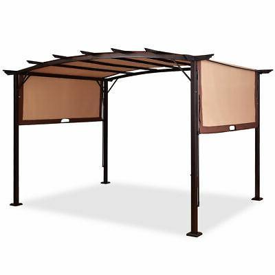 12' x 9' Pergola Kit Metal Frame Gazebo Canopy Cover Patio S