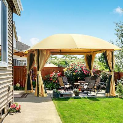 12x12 ft gazebo canopy with netting sides