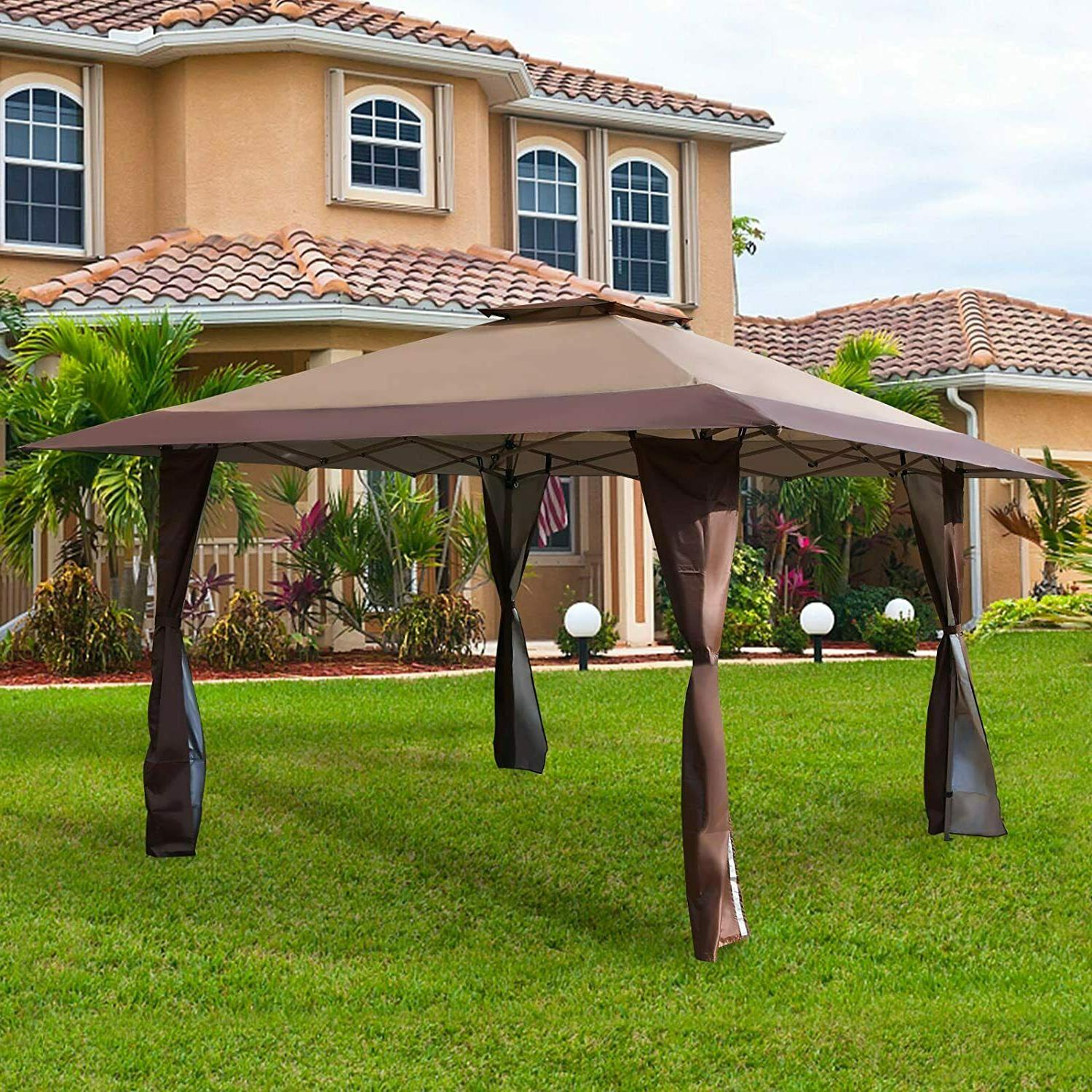 13' x13' UV Block Sun Shade Gazebo Canopy Gazebo Shade for O
