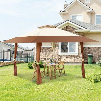 13'x13' Folding Gazebo Shelter Tent Patio Garden Outdoor