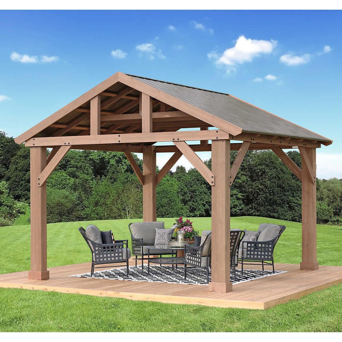 14 x 12 cedar pavilion with aluminum