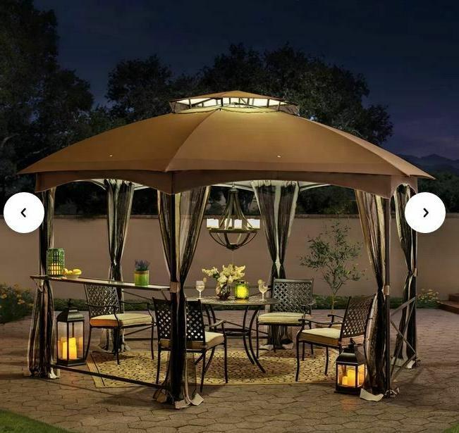 Sunjoy 15 x Ft. Steel Patio roof,Mesh