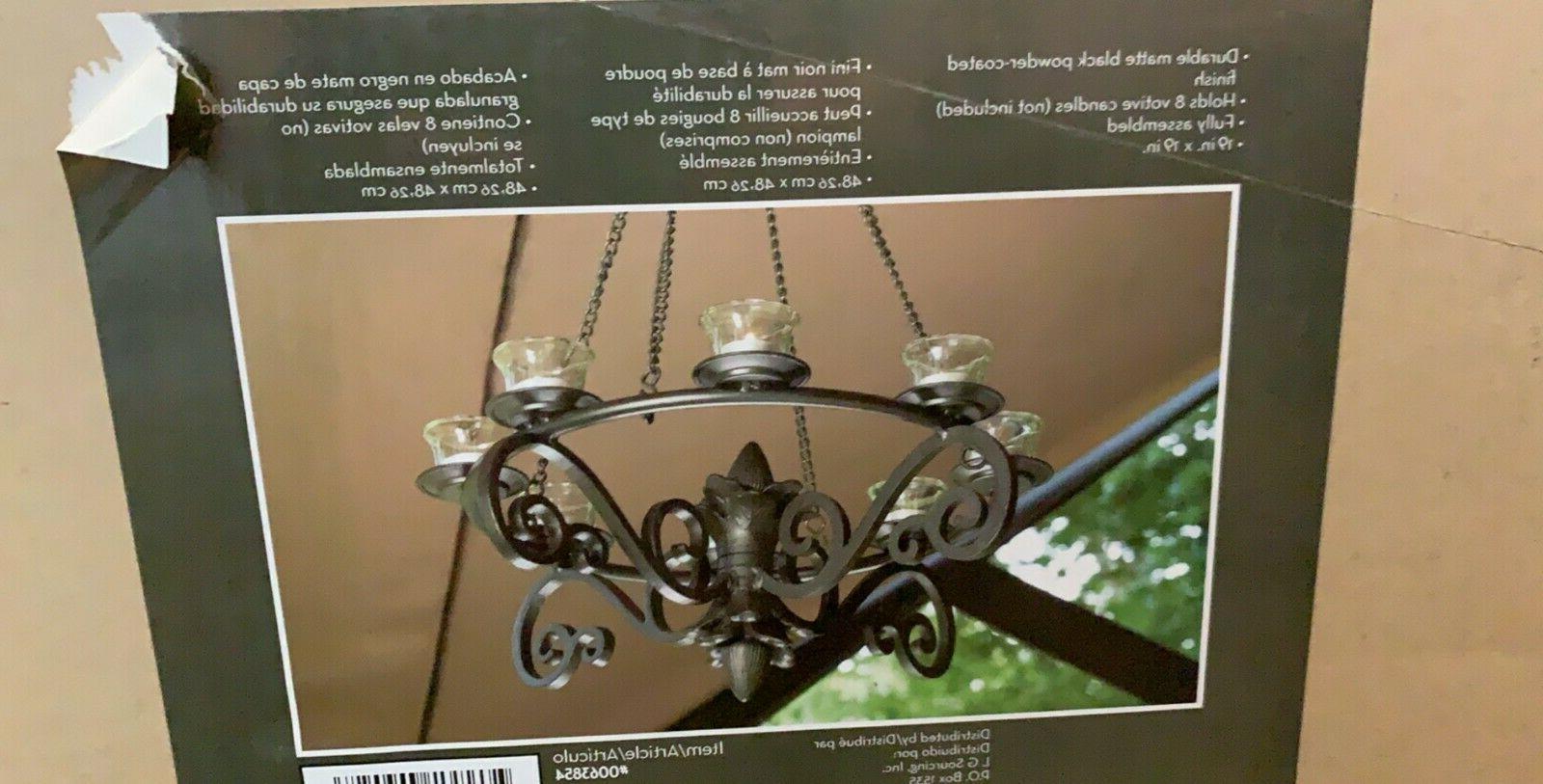 Garden Treasures inch Chandelier Matte Powder