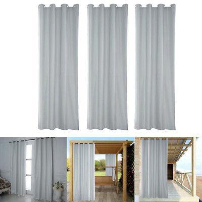 3x heat insulated grommet outdoor curtain drape