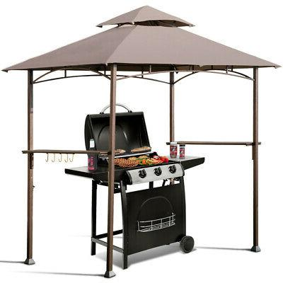 8 x5 outdoor barbecue grill gazebo canopy