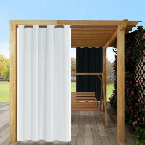 84 waterproof outdoor curtain panels grommet top