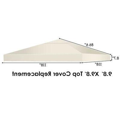 9.8' x 9.8' Gazebo Top Cover Patio Canopy Replacement 3