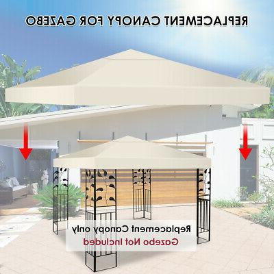 9.8' 9.8' Gazebo Top Replacement or 2-Tier 3