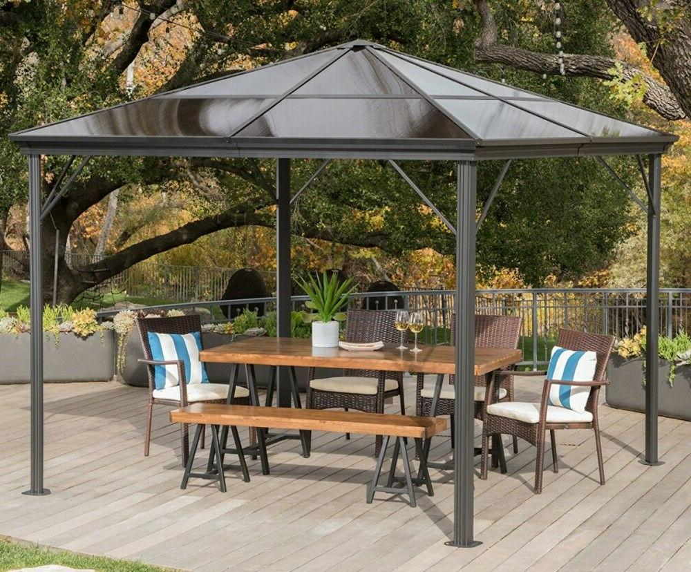 aluminum pergola metal large 10x10 outdoor canopy