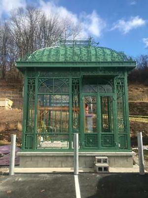 beautiful victorian style tubular steel estate gazebo